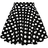 Wedtrend Women's Basic Versatile Stretchy A-line Flared Casual Mini Skater Skirt