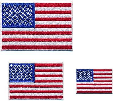 Hegibaer 3 Usa Flaggen Usa Flags Washington D C Amerika Patch Aufnäher Aufbügler 0650 Auto