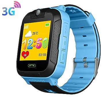3G Niño Smartwatch,GPS LBS WiFi Position Tracker SOS Niño Relojes de Pulsera Cámara Sistema Android Reloj de teléfono Estudiantes Regalo Niños para ...