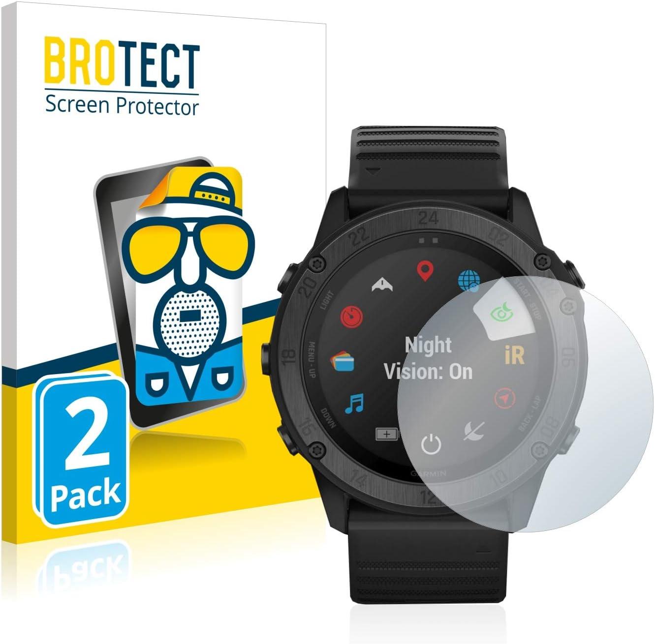 Anti-Reflex BROTECT 2X Entspiegelungs-Schutzfolie kompatibel mit Garmin Tactix Delta Displayschutz-Folie Matt Anti-Fingerprint