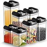7pcs Botes Hermeticos Cocina Plastico Tarro almacenaje Alimentos con Tapa Recipiente Caja de Almacenamiento Alimentos…