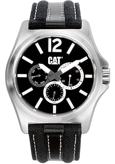 CAT PK.149.62.132 - Reloj analógico de cuarzo para hombre color negro: Amazon.es: Relojes