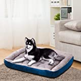 PaWz Pet Bed Dog Beds Bedding Mattress Mat Cushion Soft Pad Pads Mats L Navy Navy Blue L