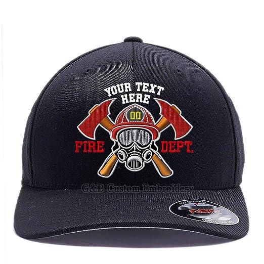 8a97b3fa2 Custom Embroidered Firefighter Hats. 6477, 6277 Flexfit Baseball Caps