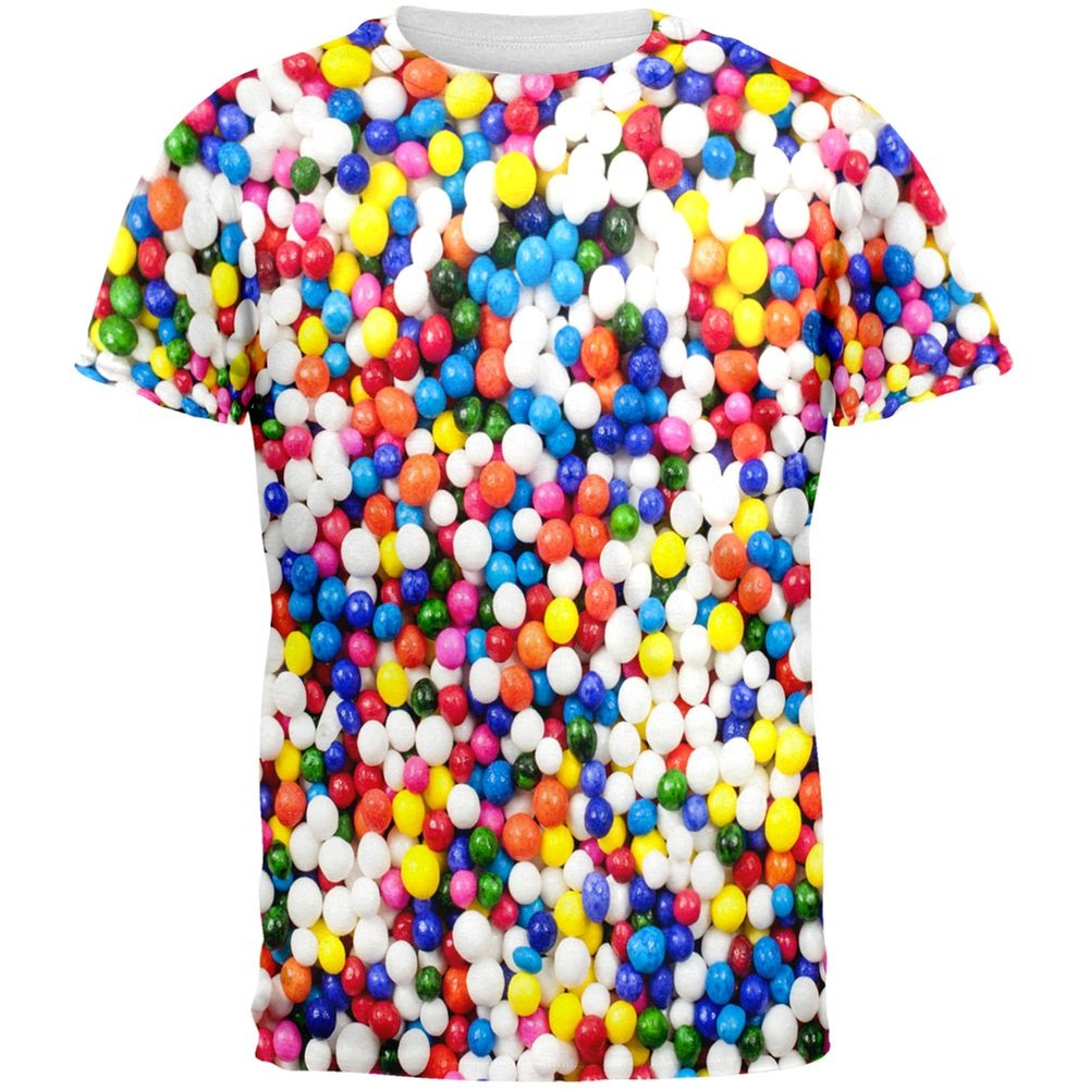 Halloween Sprinkles All Over Adult T-Shirt Tees Plus