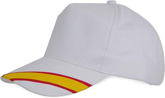 Lote DE 10 Gorras Blancas-Bandera ESPAÑA: Amazon.es: Ropa y accesorios