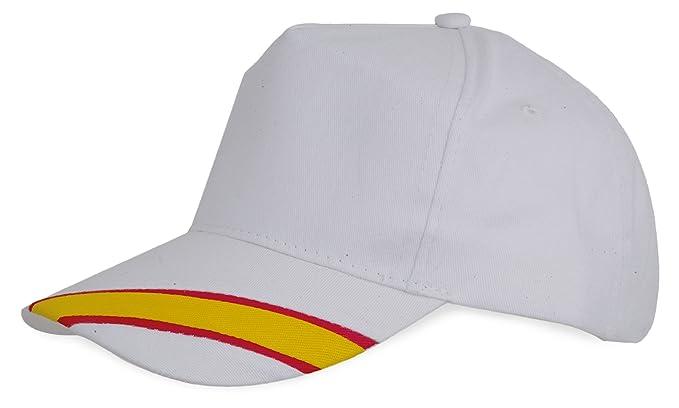 GARGOLA Lote DE 10 Gorras Blancas-Bandera España: Amazon.es: Ropa y accesorios