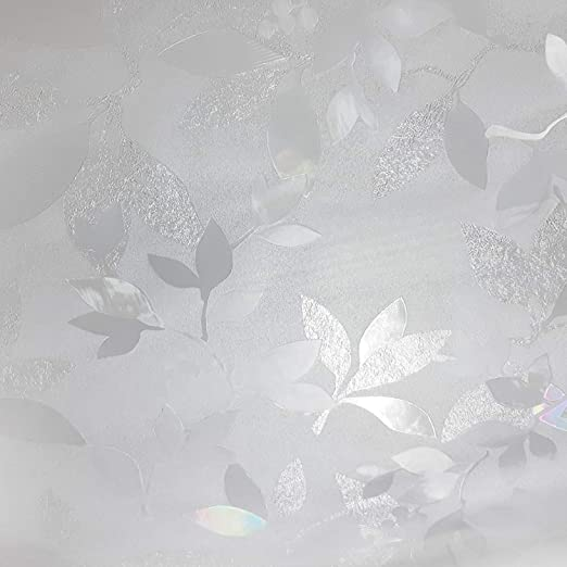 .3, 35 x 78 Leaf Pattern Window Film Privacy No Residue Roll Lutema 35 x 78 Peel And Stick Indoor Outdoor Decorative Home Bathroom Shower Living Room Business Office Meeting Room Glass Door Film Decor