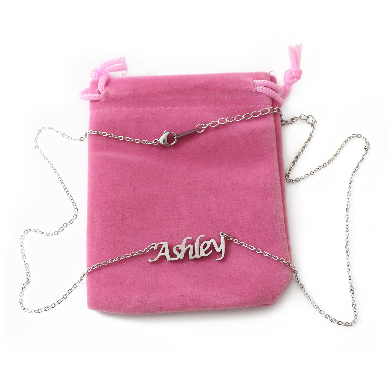 Ashley Silver Tone Name Necklace
