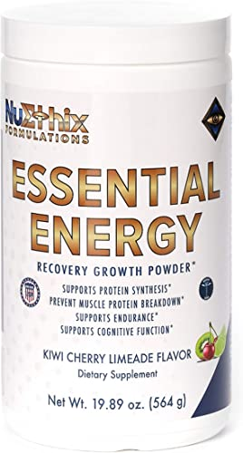 NuEthix Formulations Essential Energy Amino Acid Supplement for Better Workouts, Stamina and Mental Clarity, 30 Servings