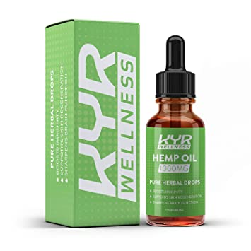 KYR Hemp Oil for Pain and Anxiety Relief, Also Helps with Sleep, Boost  Immunity, Supports Skin