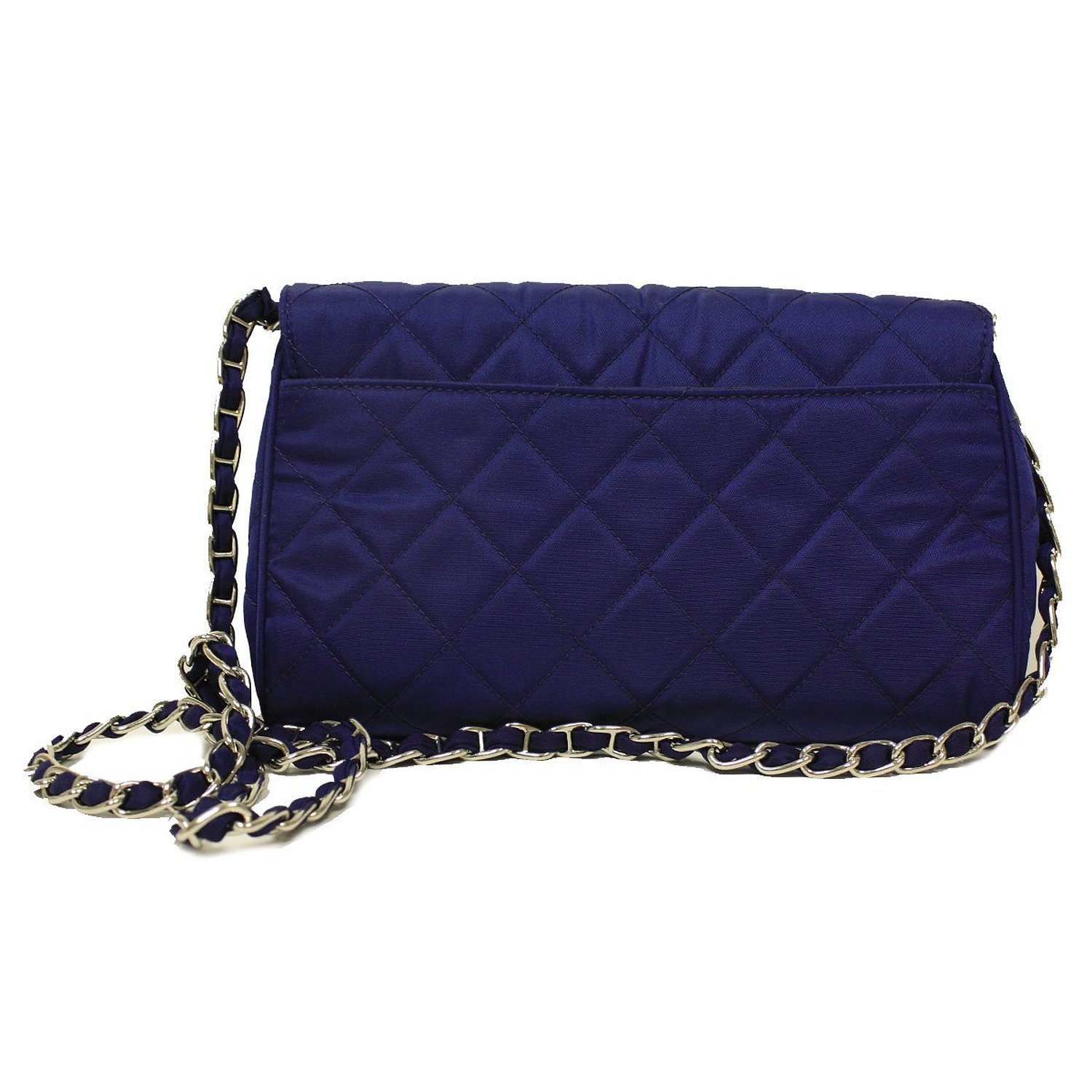 c4e83638ee71d6 Prada Royal Blue Tessuto Pattina Quilted Nylon Leather Chain Shoulder Bag  BP0584: Amazon.ca: Shoes & Handbags