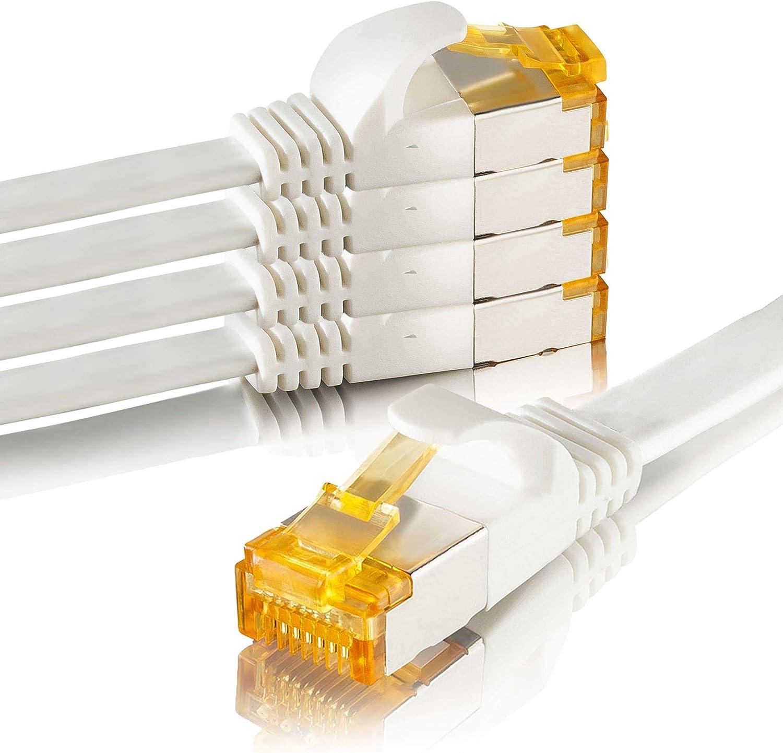 Sebson 5x Lan Kabel 5m Cat 7 Flach Netzwerkabel 10 Elektronik