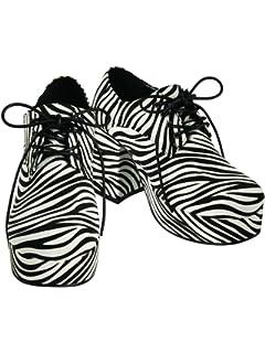 Mens Pimp Platform Zebra Shoes