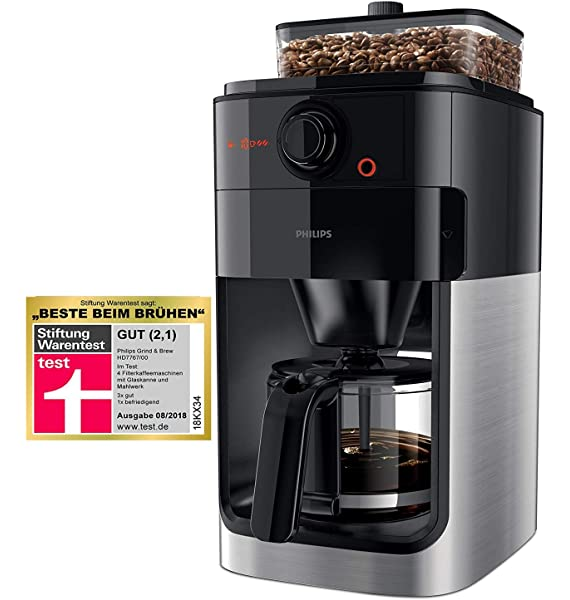 Philips Grind & Brew HD7766 - Cafetera (Independiente, Drip ...