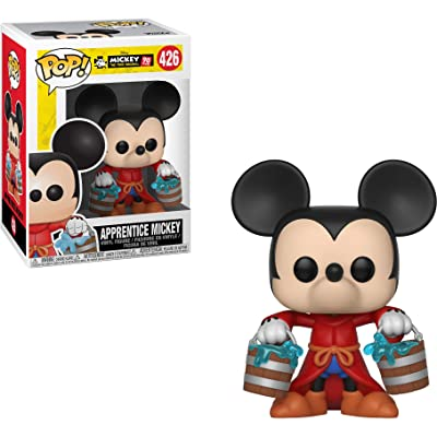 Funko Apprentice Mickey: Mickey's 90th Anniversary x POP! Disney Vinyl Figure & 1 POP! Compatible PET Plastic Graphical Protector Bundle [#426 / 32184 - B]: Toys & Games