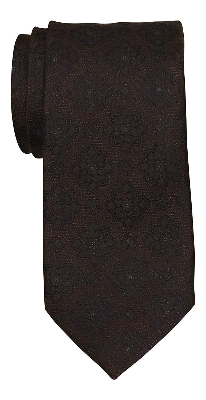 Jos Bank Brown Fancy Medallion Silk Wool Blend Tie A