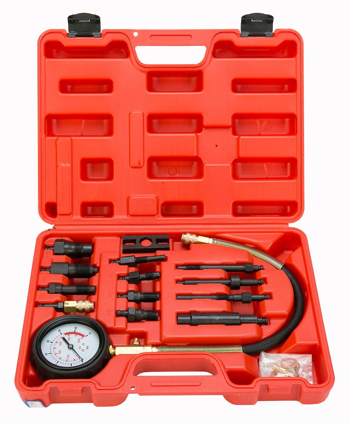 8milelake Diesel Direct and Indirect Engine Compression Pressure Tester Gauge 1000psi