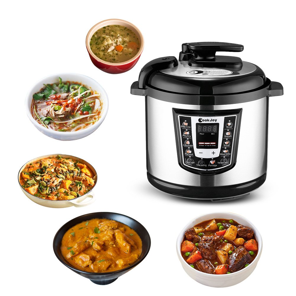 Multifunction Electric Pressure Cooker 6 Litre 8-in-1 Programmable Multi-Cooker with Stainless Steel Inner Pot by COOK JOY (Image #7)