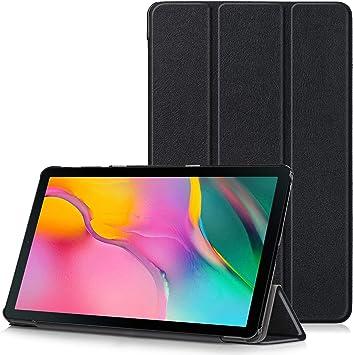 TTVie Funda para Samsung Galaxy Tab A 10.1 2019, Carcasa Ultra Delgado y Ligero con Cubierta de Soporte para Samsung Galaxy Tab A 10.1 2019 SM-T510 / SM-T515 Tablet, Negro: Amazon.es: Electrónica