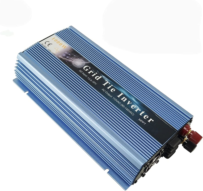ZBF Inversor Solar MPPT 1000W 18V 24V 36V Micro Rejilla de la Rejilla Pura Onda sinusoidal Paralelo Inversor Salida 110V 220V para el Panel Solar Viento (Color : Blue, Input Voltage : 10.8 30VDC)