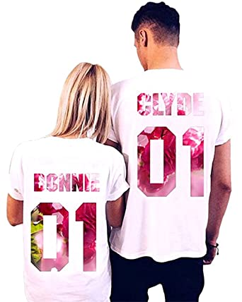 704bddbb0 L&ZZ Couples T-Shirts Sweetly Name Couple Lovers Matching Outfit Shirts  (Men S,