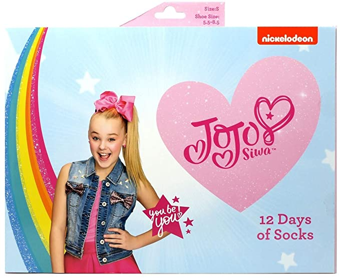33c035931de Image Unavailable. Image not available for. Color: JoJo Siwa 12 Days of Socks  Advent Calendar