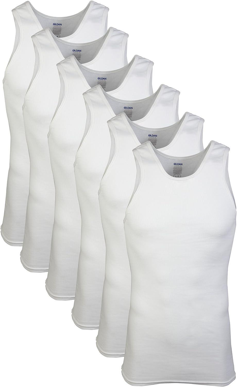 Gildan Men's A-Shirts Tanks Multipack