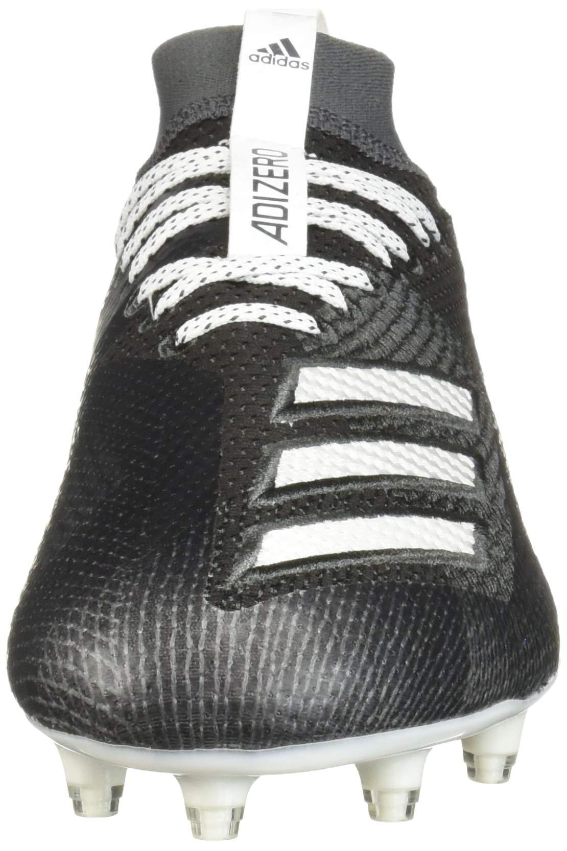adidas Men's Adizero 8.0 Football Shoe Black/White/Grey 6.5 M US by adidas (Image #4)