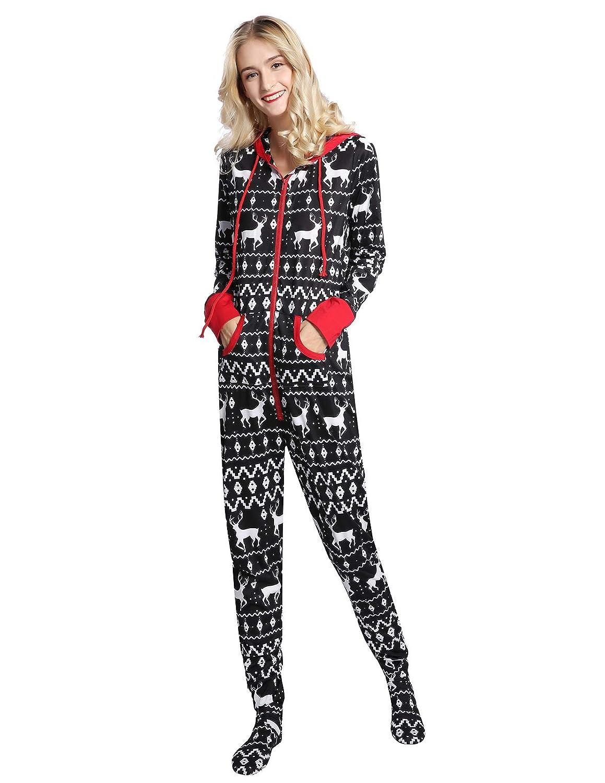 Footie Pajamas For Women With Hoods