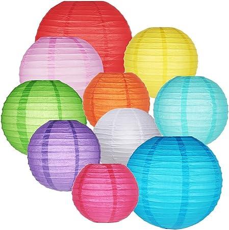 6 Colori Carta Lanterna LED LANTERNA LANTERNE LANTERNA GIARDINO Palloncino Lanterna Di Carta Carta