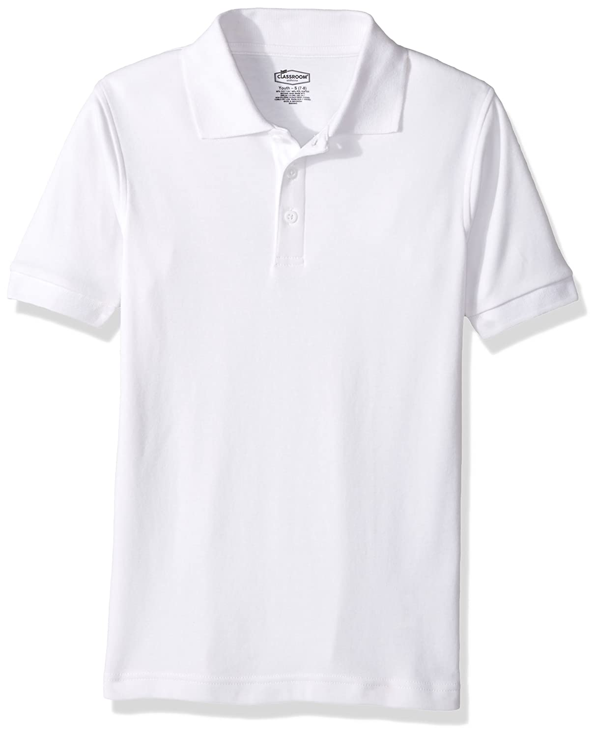 Classroom Kids Little Boys' Uniform Short Sleeve Interlock Polo 58912
