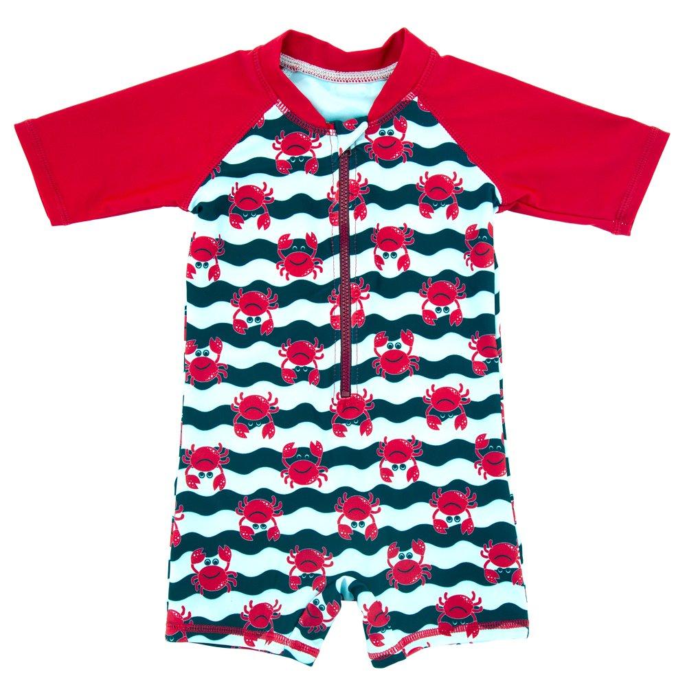 ThreeH Infant Baby Boys Rashguard Swimsuit One Piece Sun Protective Swimwear BM06 H-BM06
