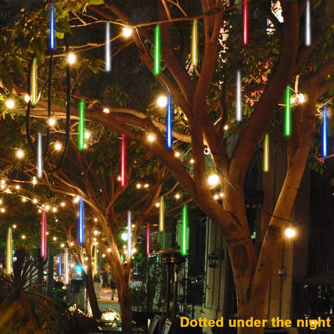 coersd Outdoor String Lights, Party LED Lights Meteor Shower Rain Snowfall Xmas Tree Garden Outdoor (Multicolor) by coersd (Image #1)