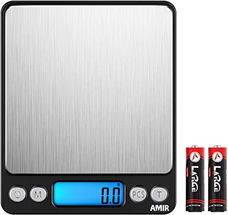 0.01-3000g Electronic Pocket Digital LCD Weighing Scales Food Jewellery Kitchen