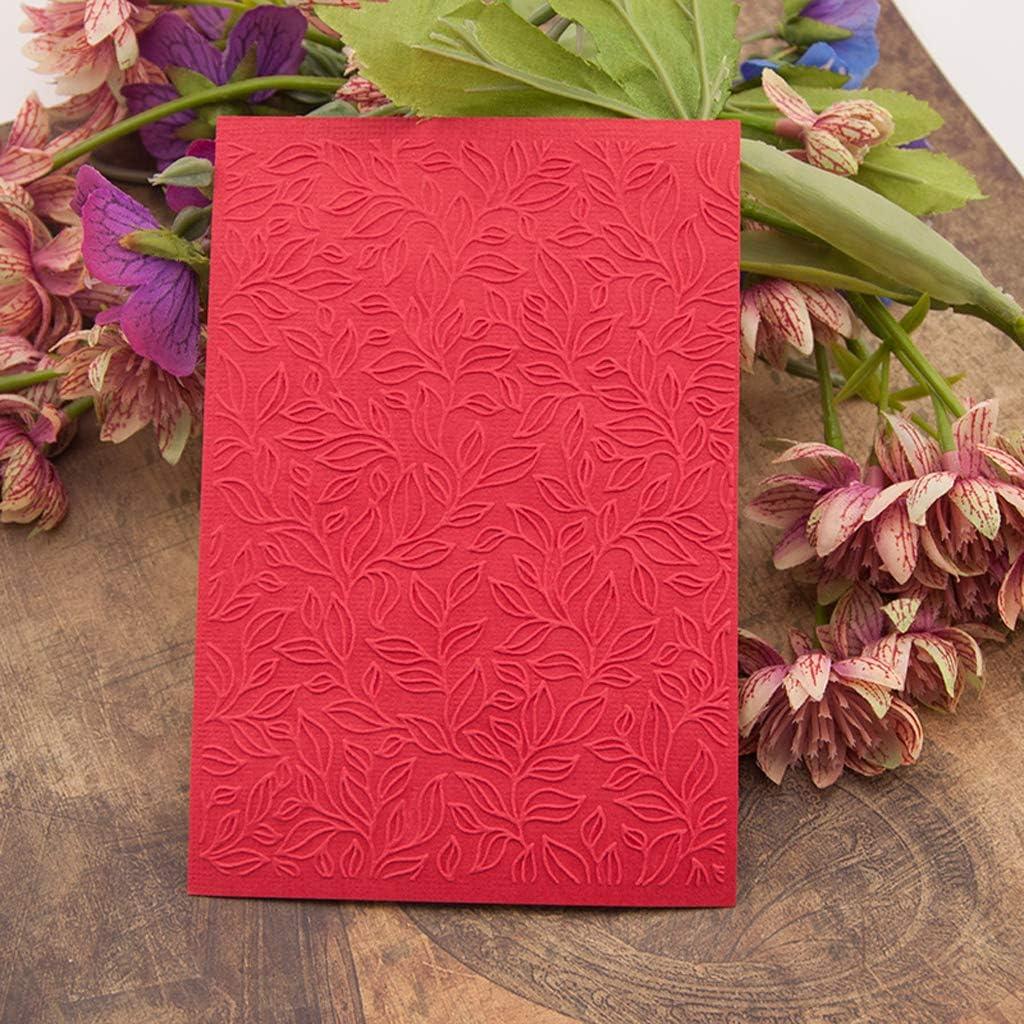RUZYY Embossing Folder Plastic Embossing Folder Template DIY Scrapbook Photo Album Card Making Decoration Crafts Heart