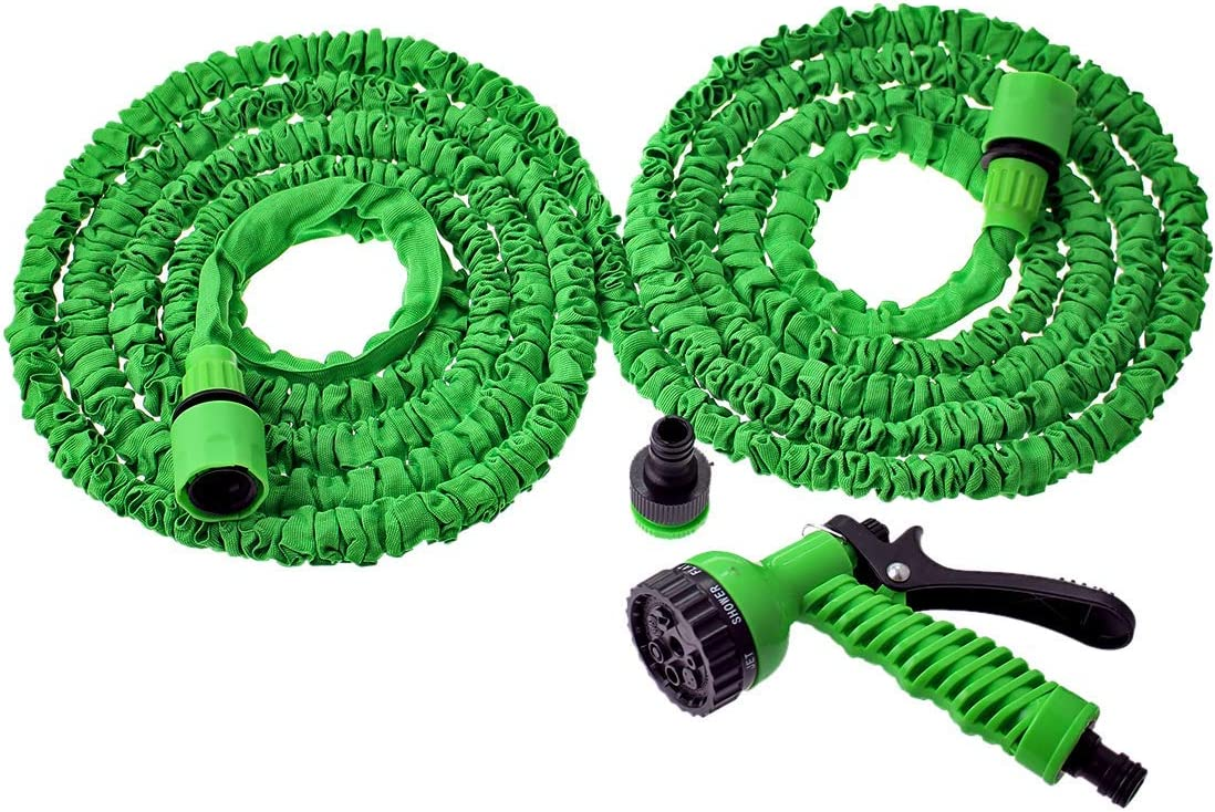 ZHTY Garden hose,25FT-150FT Garden Hose Expandable Flexible Water Hose Hose Plastic Hoses Pipe With Spray Gun To Watering Connector-Blue