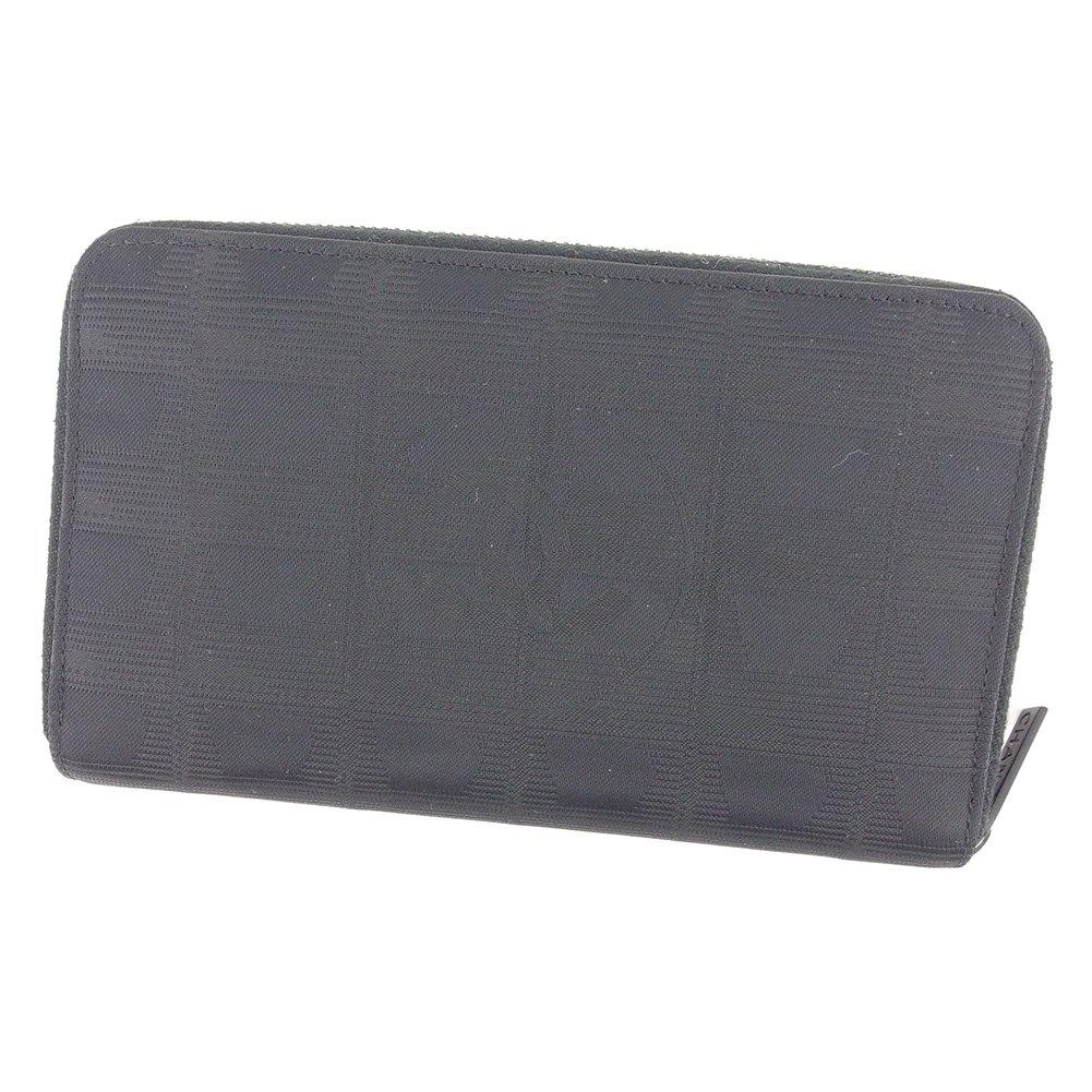 (シャネル) Chanel 長財布 ラウンドファスナー ブラック ニュートラベルライン レディース メンズ 可 中古 T7328 B07D5CS9F6