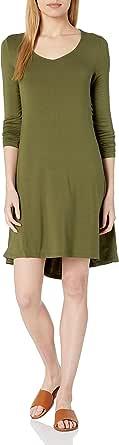 Daily Ritual Amazon Brand Women's Jersey Long-Sleeve V-Neck Dress