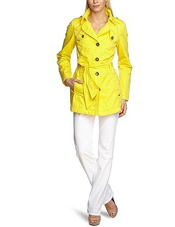 56baf2c466988 s.Oliver Women Long - regular Trench Coat - Yellow - Gelb (1355) - 8 ...