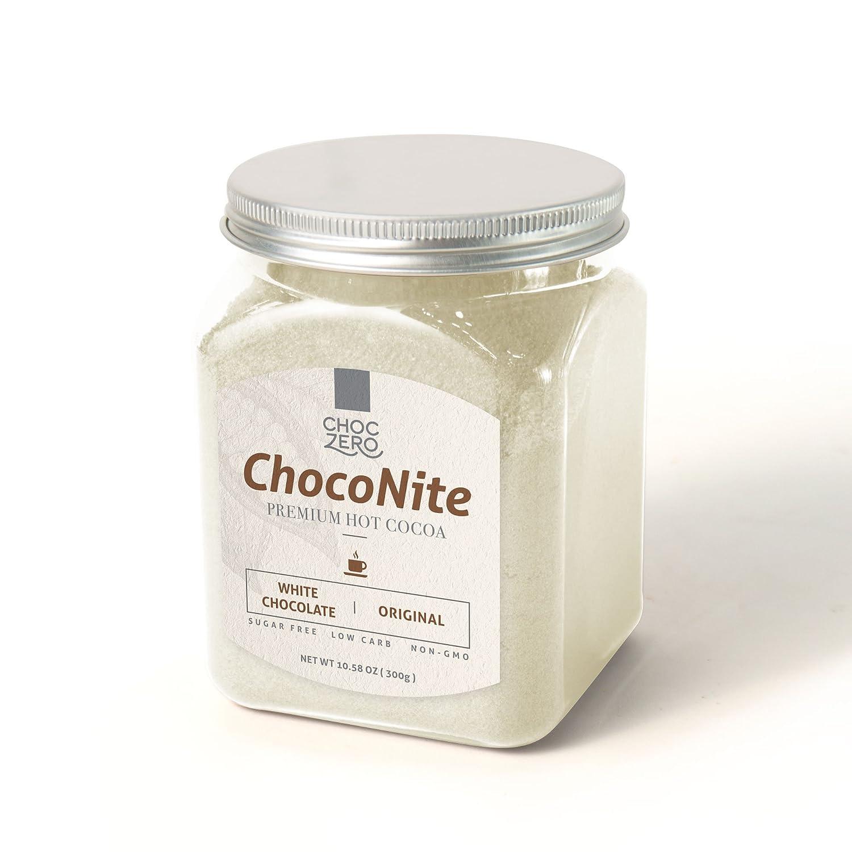 amazoncom choconite premium hot cocoa white chocolate original sugar free low carb all natural nongmo best keto drink