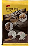 3M IE110101425_10 Scotch Brite All Rounder Hand Pad, 9 inch x 6 inch, Pack of 10