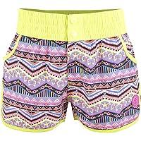 Maui And Sons Salida de Baño para Niña, Tipo Shorts en Color Amarillo con Estampado Etnico.