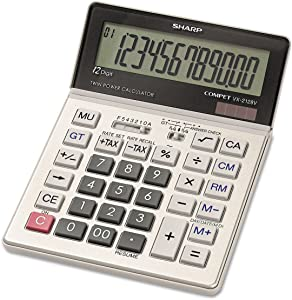 Sharp, VX2128V, Commercial Desktop Calculator, 12-Digit LCD