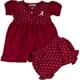 Two Feet Ahead College Girls Newborn Infant Hearts Dress with Bloomers