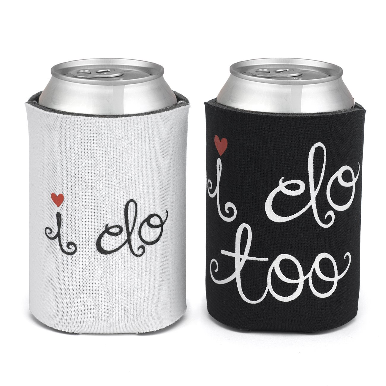 Hortense B. Hewitt Can Coolers Wedding Accessories, I Do and I Do Too, Set of 2