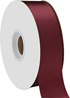"""product image for Offray Berwick 1.5"""" Single Face Satin Ribbon, Burgundy Red, 50 Yds"""