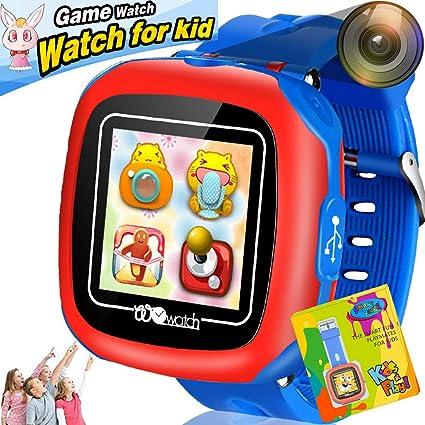 Reloj Inteligente Pantalla táctil Niños Game Smartwatches Función de cámara Pedómetro Calculadora Función de Alarma Función de cronómetro Banda de Reloj ...