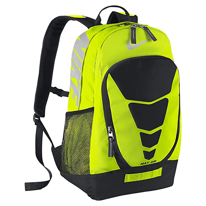 ad9fb38971 Nike Vapor BP Large Backpack Volt Black Met Silver  Amazon.in ...