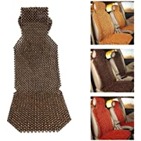 benefit-X Car Seat Cushion Natural Wood Bead Seat Cover Massage Cool Cushion Summer Wood Beaded Seat Cover Refreshing Back Massaging Comfort Cushion Mat Universal for Car Truck 45 x 130CM